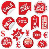 σύνολο πώληση εικονίδια διάνυσμα — Διανυσματικό Αρχείο