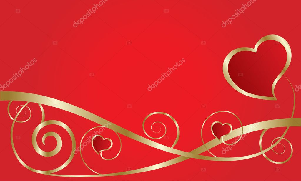 Abstract love card with hearts — Stock Vector #2108982