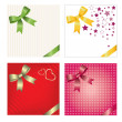 Stock Vector: Set of gift cards