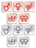 Sex symbol set — Stock Vector
