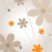 Natural floral background — Stock Vector