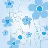 Blue floral background — Vettoriale Stock