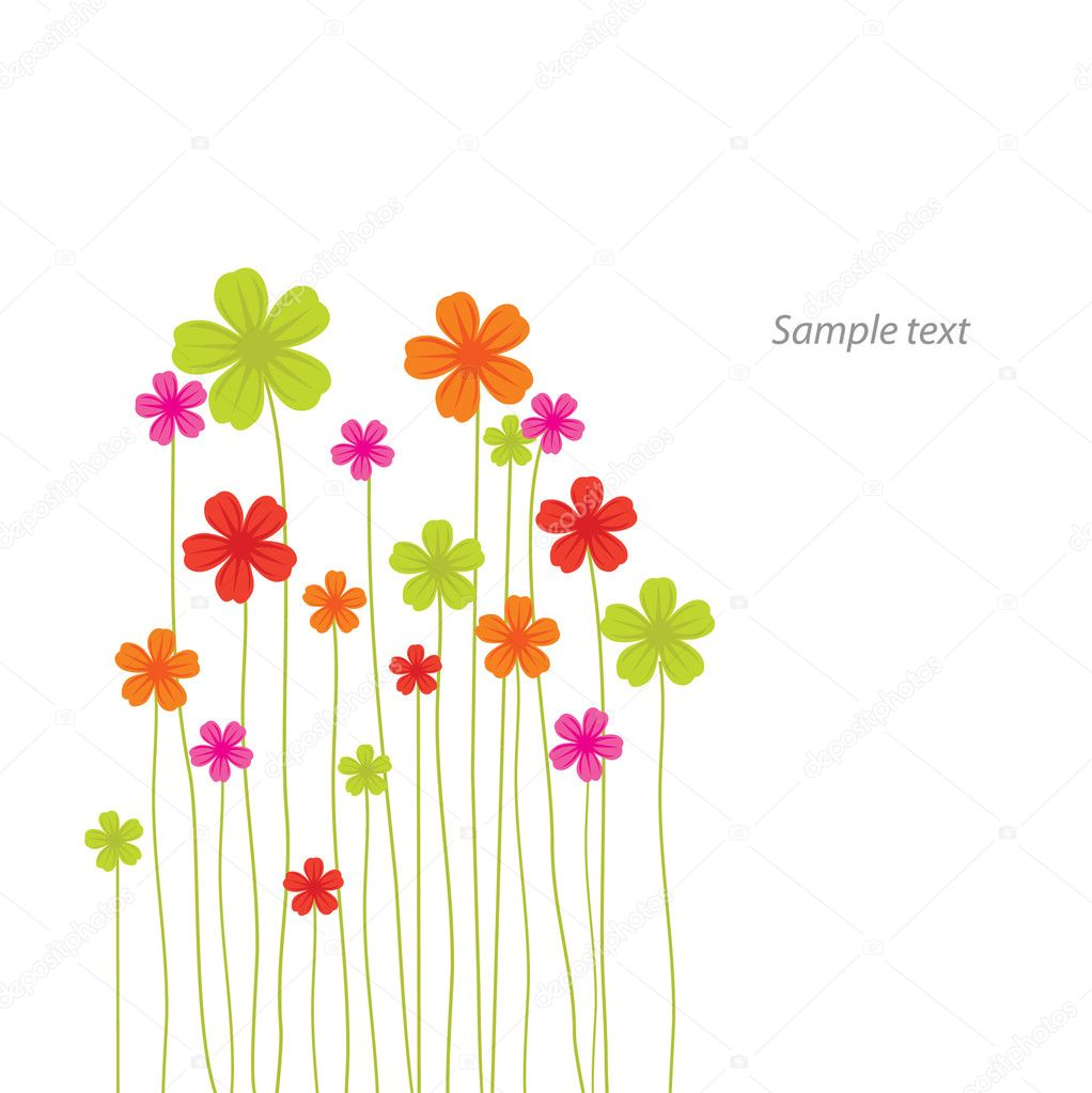 Vector flower card — Stock Vector #2394957