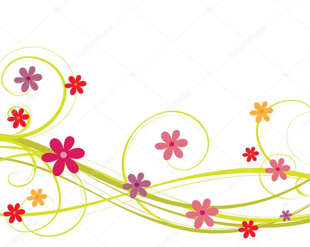 Vector colorful  flower background  Stock Vector #2395084