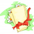 Red bow and memo — Imagen vectorial