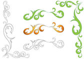 Illustration of floral design elements — Stock Vector