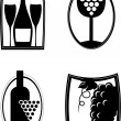 iconos de vino — Vector de stock  #2133673