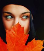 Autumn girl — Foto Stock