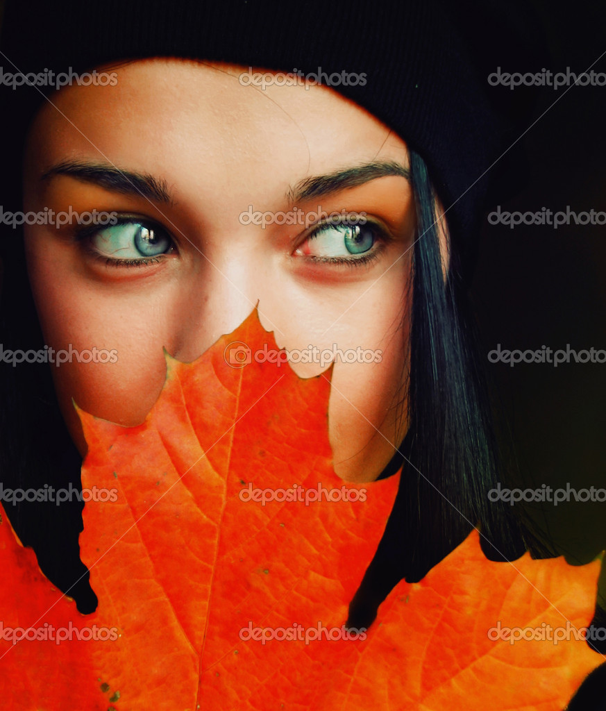 Autumn girl  Stock fotografie #2065704