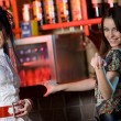 Two girlfriends in bar — Stock Photo #2167433