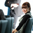 Women and nice girl in glasses — Stock Photo #2428247