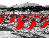 Red beach scene — Stock Photo