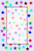 Blue star background — Stock Photo