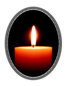 Traditional candle in frame — Stock Photo