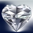 Diamond heart — Vettoriali Stock