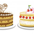 Royalty-Free Stock Vector Image: Birthday cakes