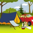 Stock Vector: Picnic place