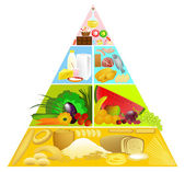 Food pyramid — Stock Vector