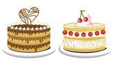 Birthday cakes — Stock Vector
