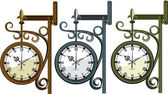 Three clocks — Stock Vector