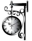 Staré pouliční hodiny — Stock vektor
