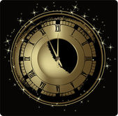 New Year's clock — Stockvektor