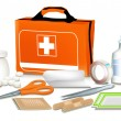 Vettoriale Stock : First Aid kit