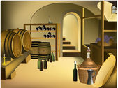 Wine cellar — Stock Vector