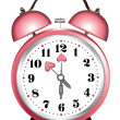 Valentine alarm clock — Stock Vector