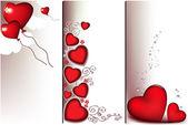 Love banners — Stock Vector
