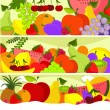 Three fruit banners — Stock Vector #2674808