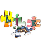 Life is a puzzle — Stock Vector