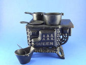 Cast iron stove — Stock Photo