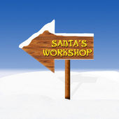 Santa's workshop — Vector de stock