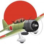Japanese WW2 bomber plane — Stock Vector #2128507