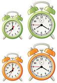 Various alarm clocks — Stock Vector