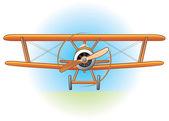 Vintage plane — Stock Vector