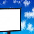 Blank signpost in the sky — Stock Photo