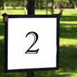 Stock Photo: Outdoor signpost with the number 2