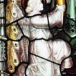 Stained glass window in a church — Stockfoto
