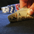 Hand of poker — Stock Photo