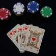 Royal Flush, poker — Stock Photo