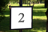 Outdoor signpost with the number 2 — Stock Photo