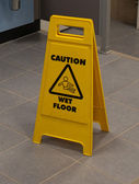 Wet floor sign — Stock Photo