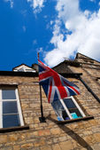 Picture of the union jack showing the patriotism of the UK — Stock Photo