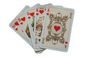 Old vintage playing cards — Stock Photo