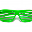 Green retro glasses - Stock Photo