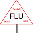 Flu Sign — Foto Stock