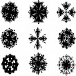 Stock Photo: Set of snow flakes