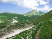Pista en las montañas — Foto de Stock